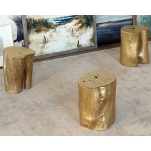 Gold Tree Stump Stool