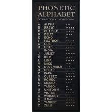 International Morse Code 32W x 74H