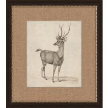Antique Lone Deer 17.5W x 19.5H
