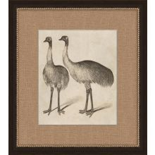 Antique Ostrich 17W x 19H
