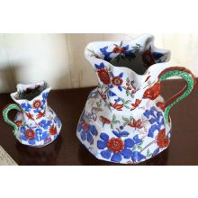 Set of 2 Floral Pitchers