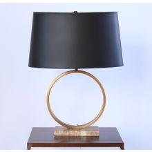 Logan Table Lamp with Black Shade