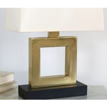 Brass Square Table Lamp