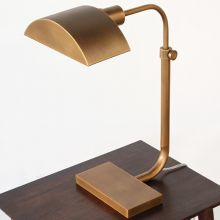 Koleman Adjustable Task Table Lamp in Brass