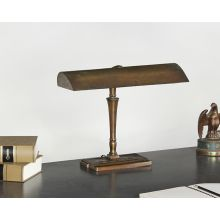 Vintage Ornate Brass Fluorescent Desk Lamp