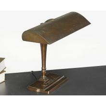 Vintage Ornate Brass Fluorescent Desk Lamp