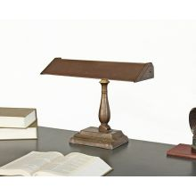 Vintage Brown Fluorescent Desk Lamp