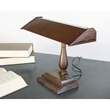 Vintage Brown Fluorescent Desk Lamp
