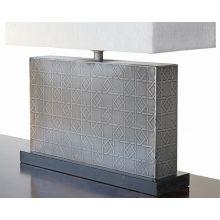 Rectangular Table Lamp With Geometrical Design