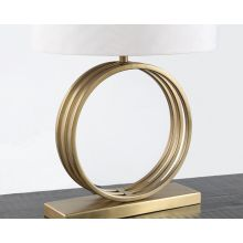 Open Ring Table Lamp With Antique Brass Finish