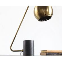 Hanging Globe Table Lamp In Antique Brass