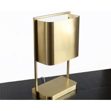 Modern Brass Finished Steel Table Lamp