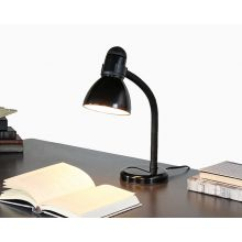 Black Hose Neck Desk Lamp