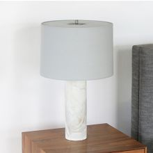 Ivory Marble Column Table Lamp