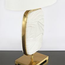 Flat Lily Medallion Lamp With Brass Edge