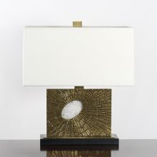 Brass And Rock Crystal Table Lamp