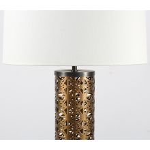 Perforated Brass Column Table Lamp