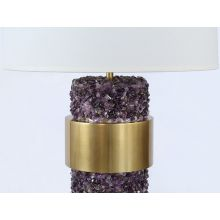Glam Purple Stone And Brass Table Lamp