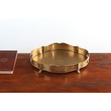 Antique Brass Chippendale Gallery Tray