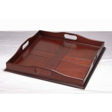 Square Mahogany Serving Tray