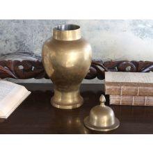 Large Vintage Brass Urn