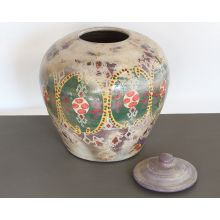 Painted Terracotta Indian Urn