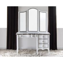 Navarre Beach Vanity in Gloss White with Iron Frost Trim