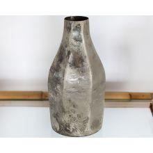 Medium Iron Vase W/ Antique Silver Finish