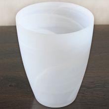 Small Matte Alabaster White Swirl Vase