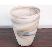 Large Matte Taupe Alabaster Vase