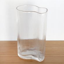 Rippled Water Clear Vase