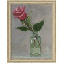 Single Pink Rose  21.75W X 27.75H