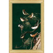Woodland Birds 2 (Small Green)  12W X 18H 1